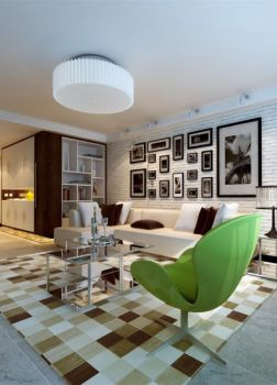 现代简约三居室样板间案例