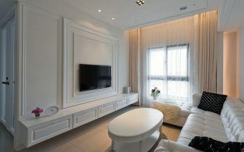 简欧风格白色三居室装修图片