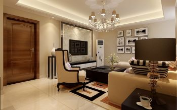 九龙湾三室两厅现代欧式风格三居室图片