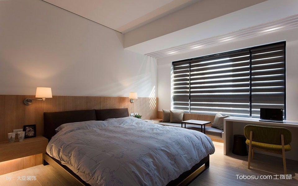 卧室咖啡色床简单风格装修图片