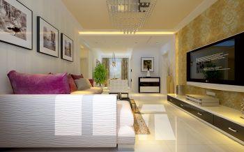 现代简约式舒适三居装修效果图