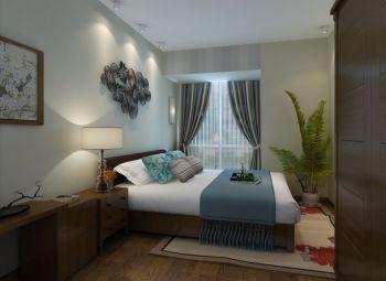 卧室现代中式风格效果图