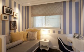 书房照片墙简欧风格装饰设计图片