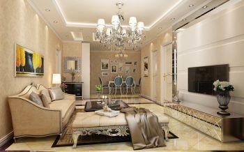 中海国际现代欧式风格三居室装修效果图案例