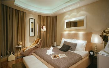 卧室窗帘古典风格装潢效果图