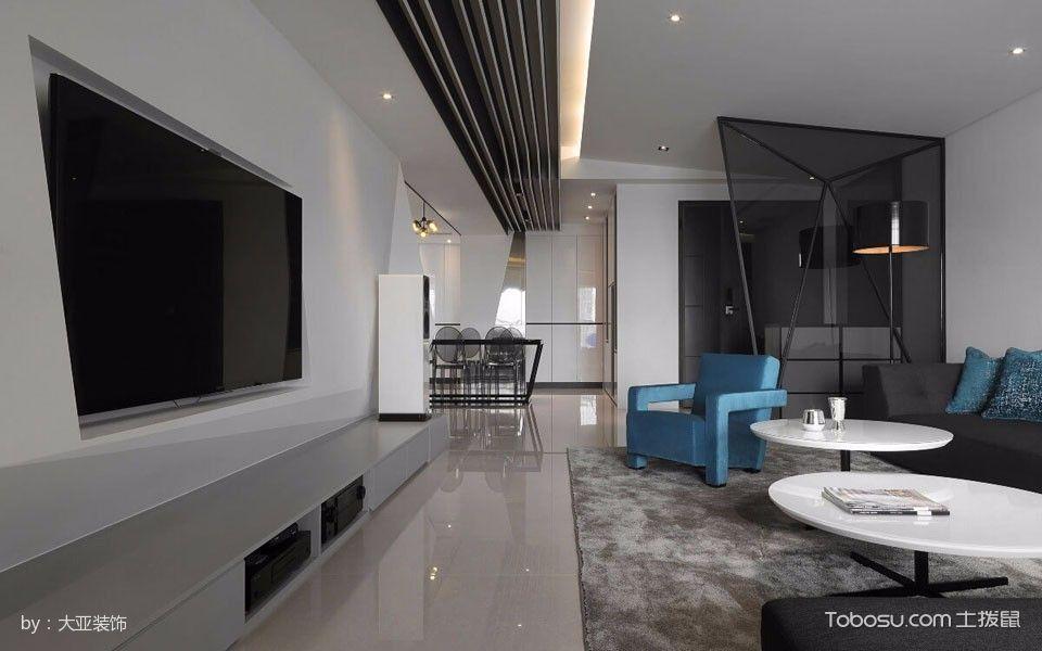 客厅灰色电视柜简约风格装饰设计图片