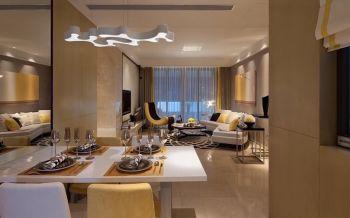 120平现代简约三居室设计图片