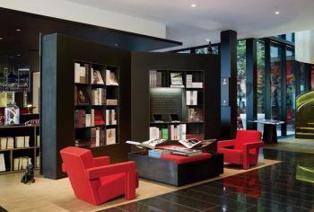 书房博古架后现代风格效果图