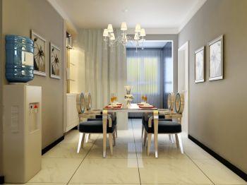 餐厅窗帘现代简约风格装饰效果图