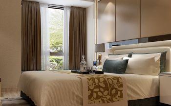 卧室窗帘现代中式风格装潢图片