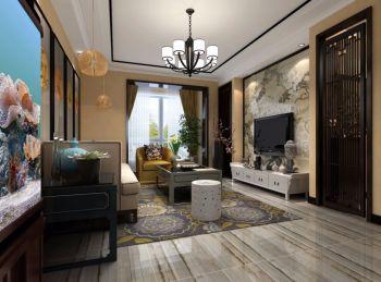 2018中式150平米效果图 2018中式三居室装修设计图片