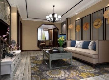 客厅吊顶中式风格装修图片