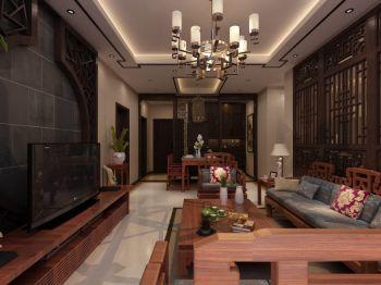 123平中式风格三居室装修效果图