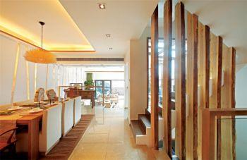 餐厅隔断现代中式风格装饰设计图片