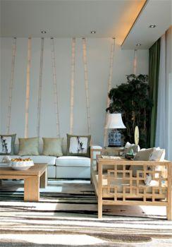 客厅现代中式风格效果图