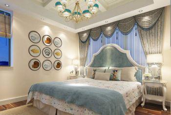 卧室地中海风格装潢效果图