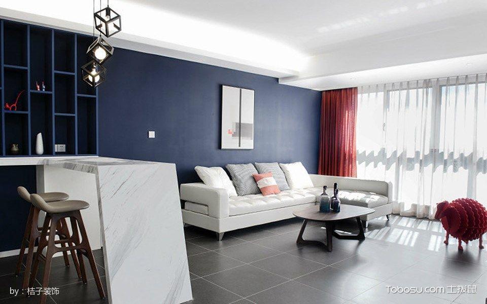 客厅白色吧台简约风格装修效果图
