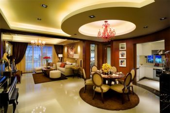 混搭欧式现代两居室装修效果图