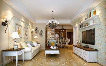 天鹅湖1号89平方两室两厅美式乡村风格装修效果