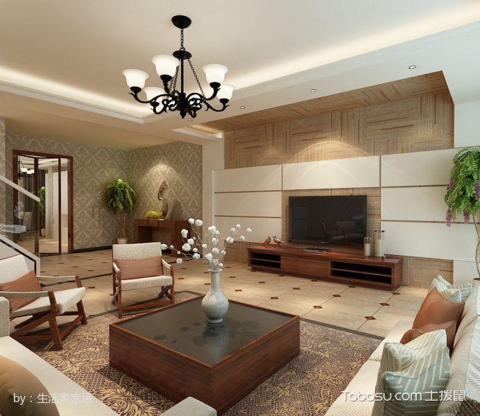 客厅黑色吊顶现代简约风格装饰效果图