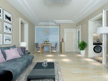 上王埠现代简约三居室装修设计图