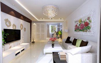 花开富贵现代简约两居装修效果图