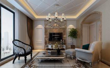 客厅背景墙现代欧式风格装潢图片