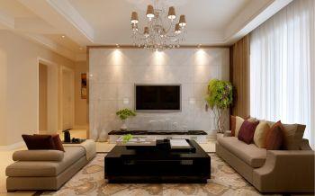 天鹅湖1号三室两厅现代简约风格装修效果图