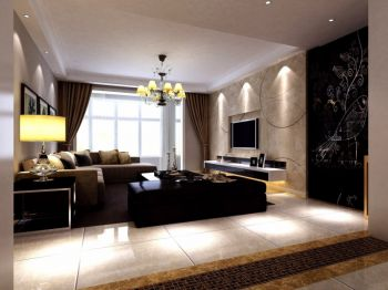 客厅现代简约风格装饰效果图