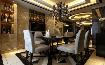 餐厅现代欧式风格装潢图片