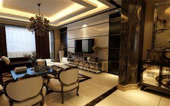 客厅背景墙现代欧式风格装修效果图