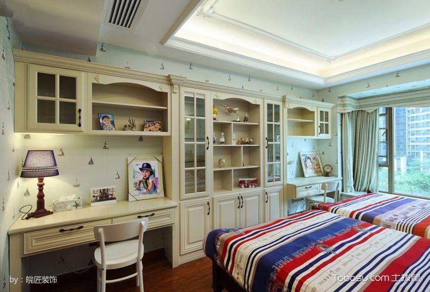 儿童房白色吊顶美式风格装修效果图