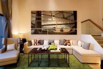 富裕广场现代简约小别墅风格设计