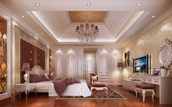 现代欧式风格别墅方案设计效果图
