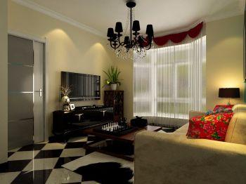 74平混搭小户型家居两房一厅装修效果图