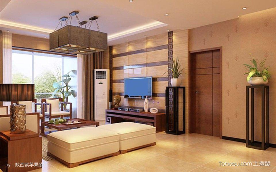 西安中海华庭50平米现代中式风格效果图
