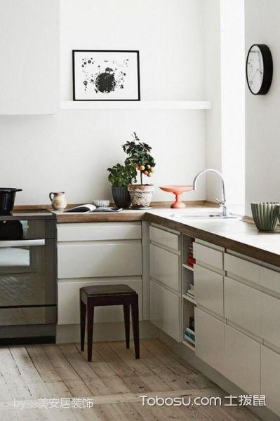 厨房米色橱柜北欧风格装潢图片