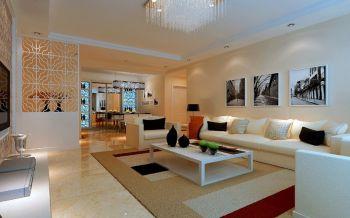 上东大道现代简约两室两厅设计图片