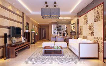 华远海蓝城现代中式风格设计效果图