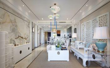 水岸枫情新中式风格三居室装修效果图案例