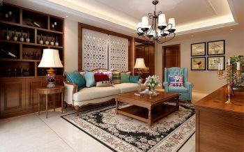 铂金汉宫三室两厅美式风格装修效果图