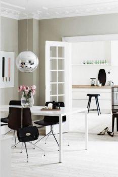 60平北欧式小户型白色简单1房1厅装修效果图