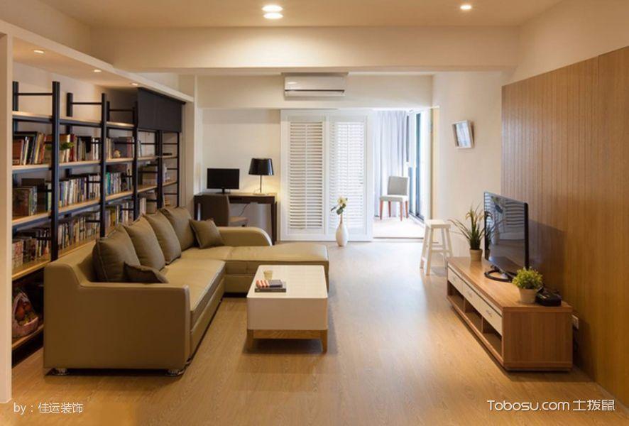 客厅_简单三居室套房设计效果图