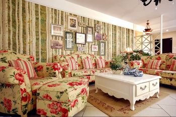 三居室田园风格舒适家居设计图