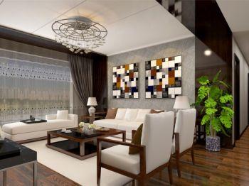 亲亲家园新中式风格三居室装修效果图