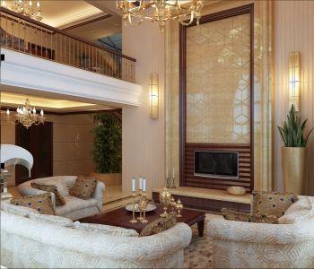 自建别墅现代欧式风格装修效果图