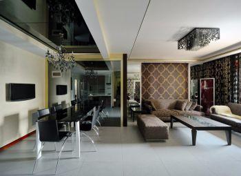 隆春里现代时尚风格二居室小户型装修设计图片