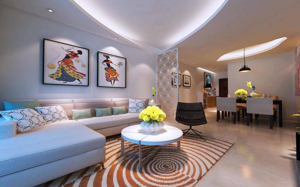 3室1卫2厅107平米简约风格