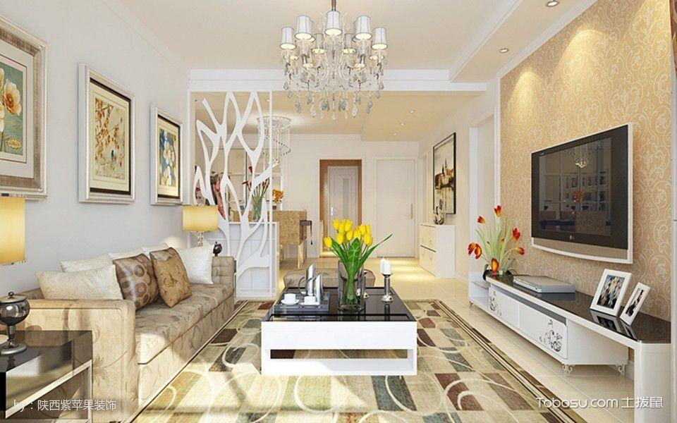 121平三居室户型现代简约风格