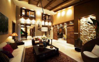 东南亚风格大户型双层别墅效果图